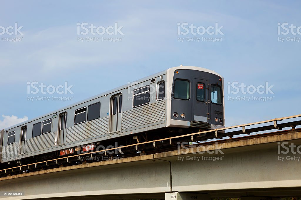Miami . Metro. stock photo