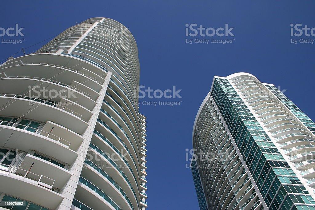 Miami moderne Gebäude Lizenzfreies stock-foto