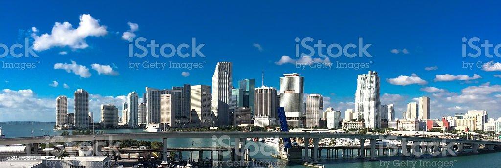 Miami Panorama stock photo