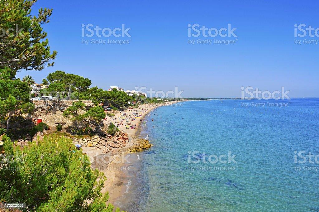 Miami Playa beaches, in Mont-roig, Spain stock photo