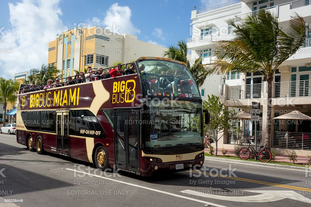 Miami Sightseeing by Bus stock photo