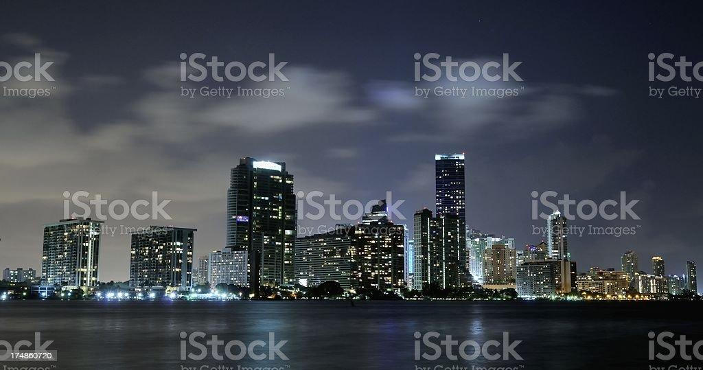 Miami Skyline Brickell royalty-free stock photo