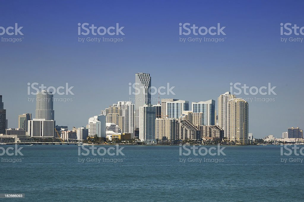 miami skyline - downtown royalty-free stock photo