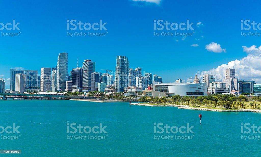Miami skyline in Florida, USA stock photo