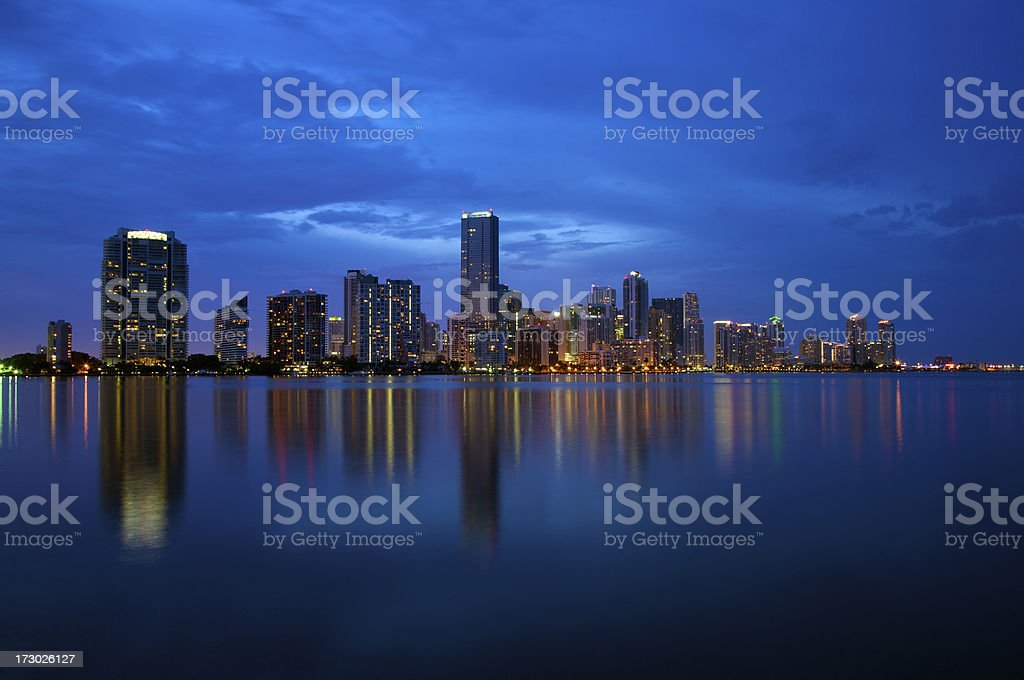 Miami Skyline in twilight royalty-free stock photo