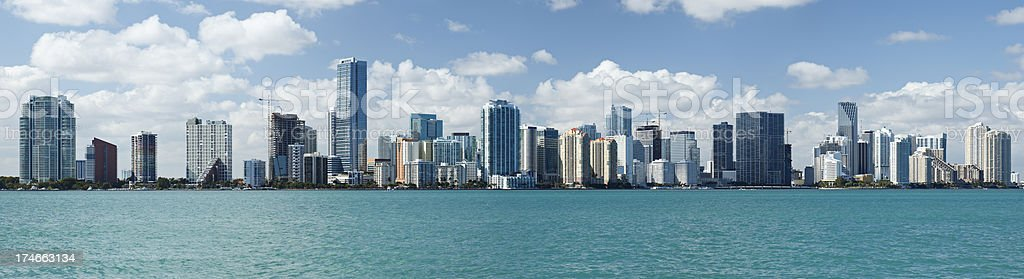 Miami Skyline royalty-free stock photo