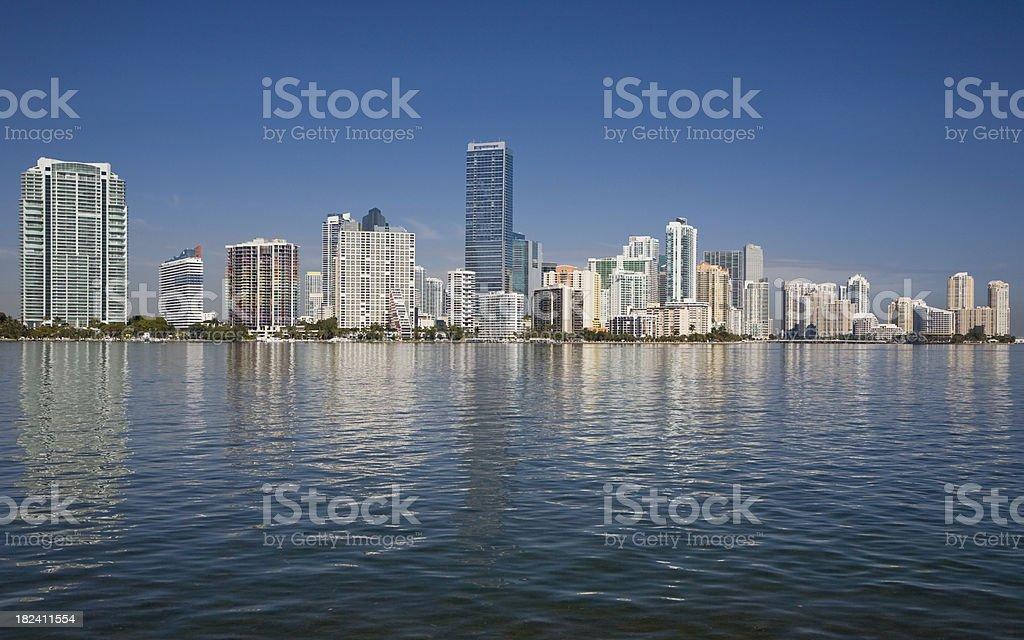 Miami skyline royalty-free stock photo