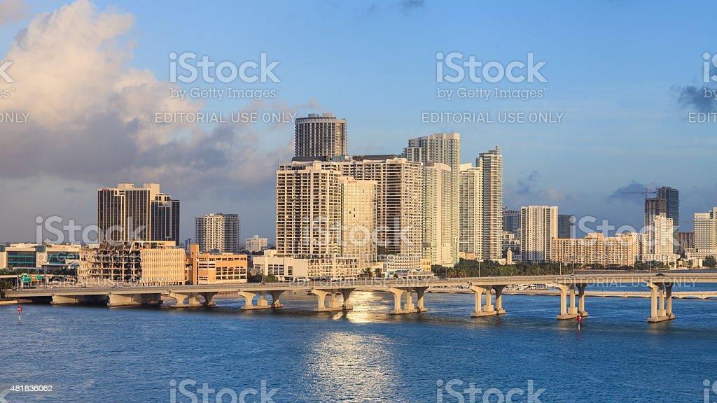 Miami Skyline stock photo