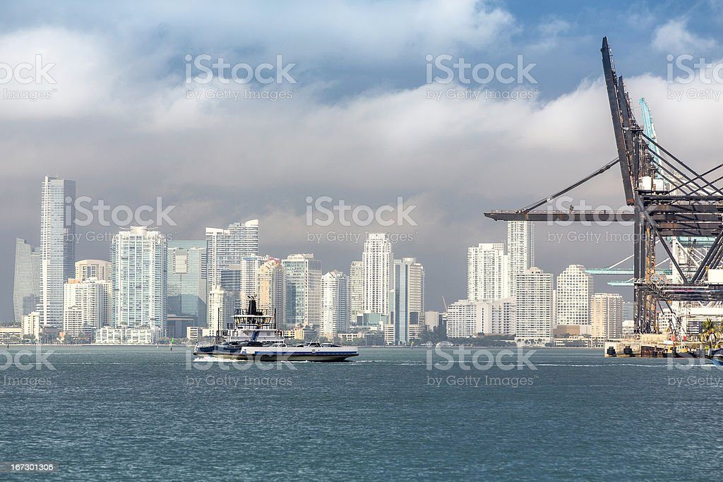 Miami skyline, South Florida royalty-free stock photo