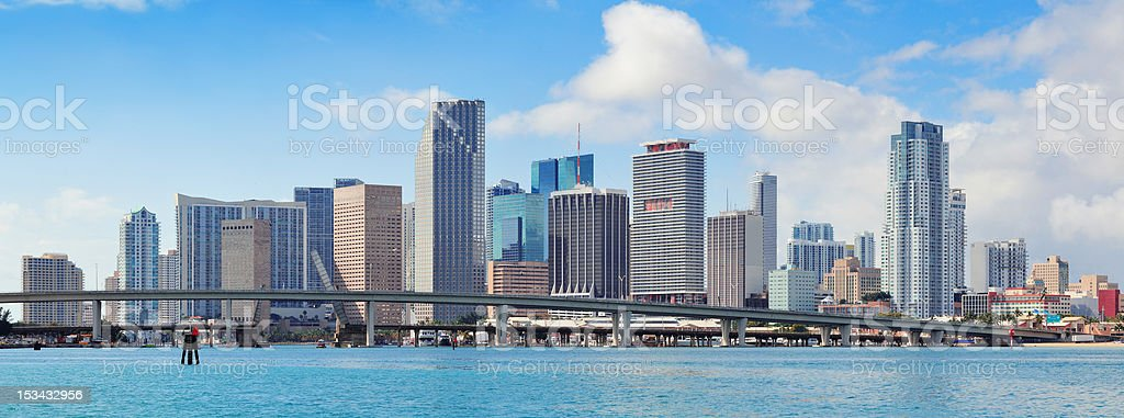 Miami skyscrapers stock photo