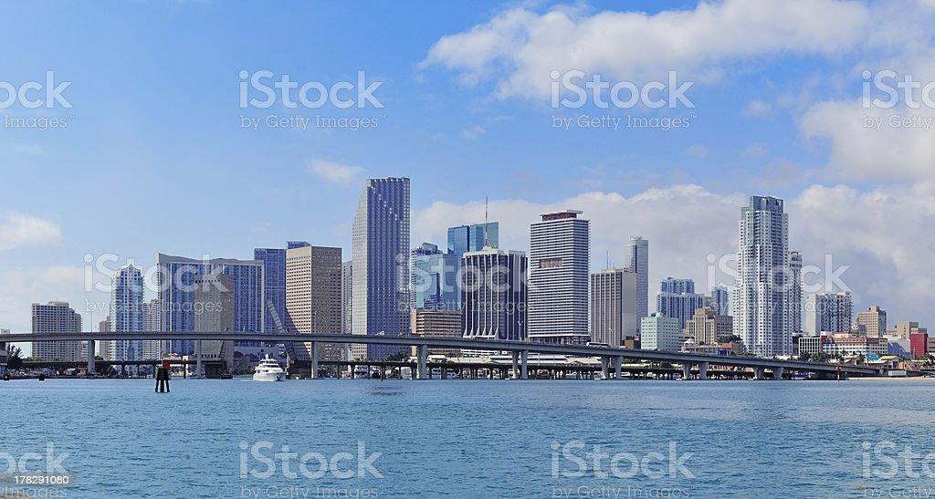 Miami skyscrapers royalty-free stock photo