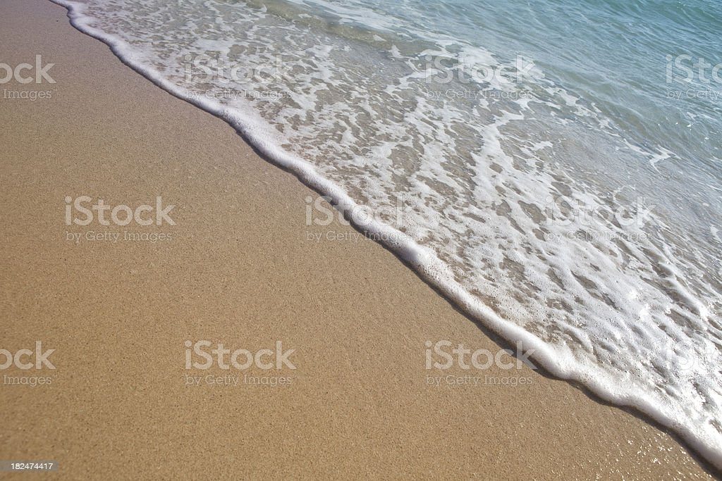 Miami South Beach Sand and Surf royalty-free stock photo
