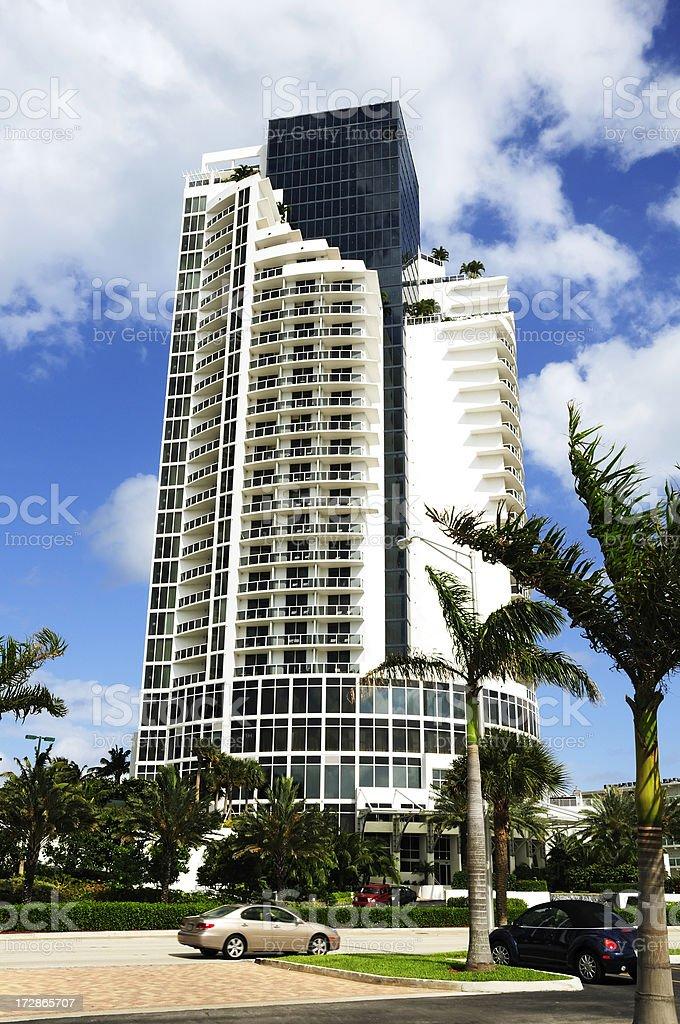 miami sunny isles luxury condo hotel stock photo