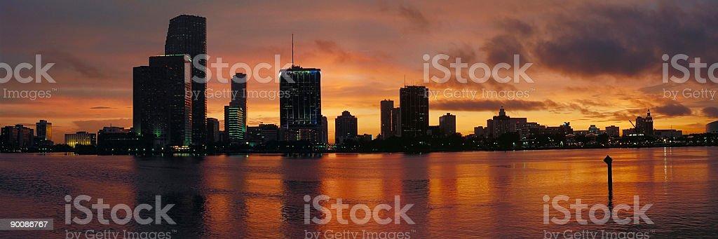 Miami Sunset panorama stock photo