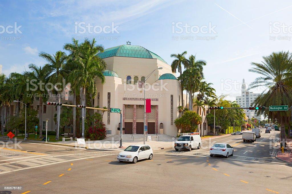 Miami. Synagogue Emanu-El. stock photo