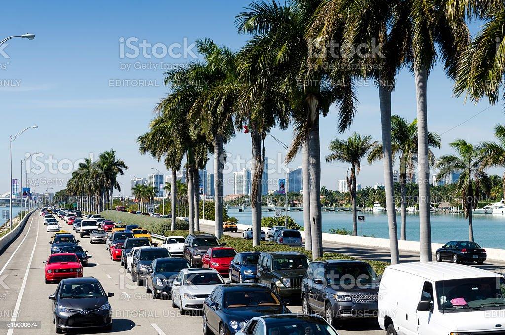 Miami traffic stock photo
