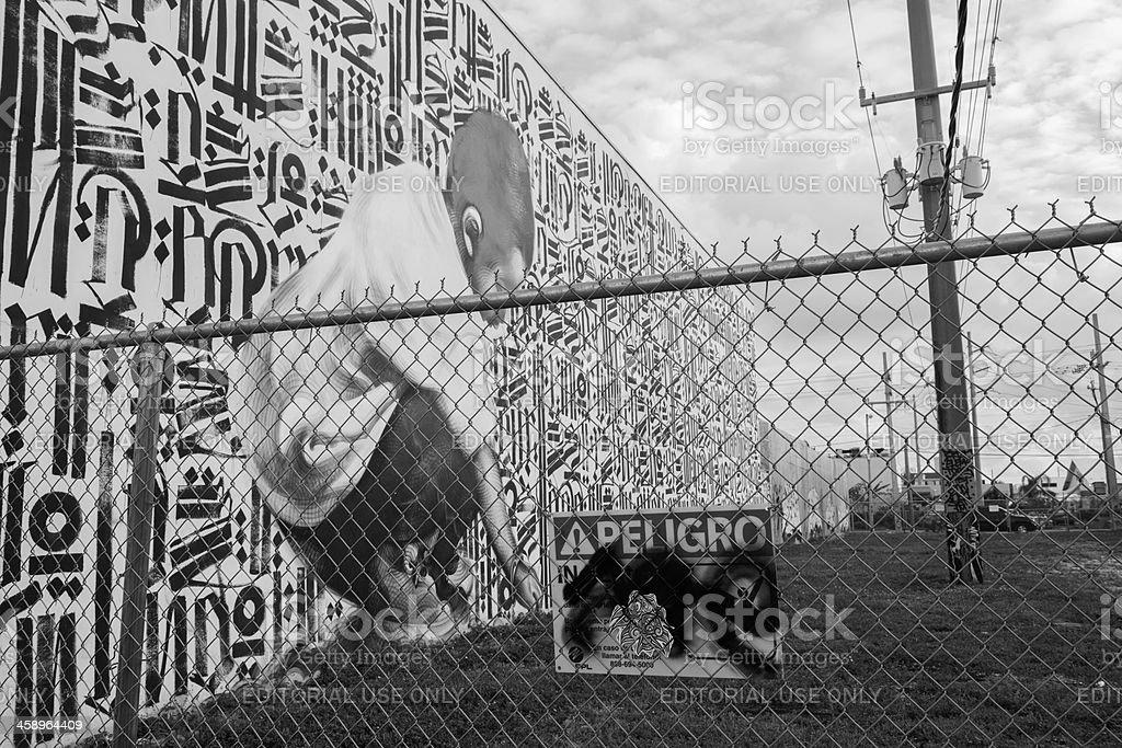 Miami Wynwood Graffiti Art Mural royalty-free stock photo
