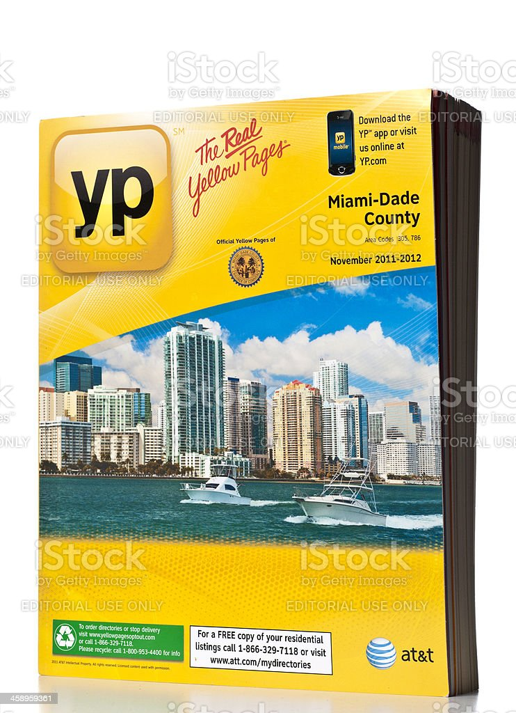 AT&T Miami-Dade County Yellow Pages directory stock photo