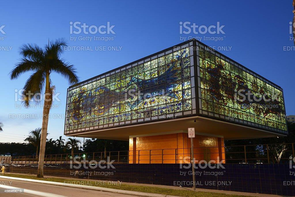 Miami's Bacardi Building at Dusk stock photo