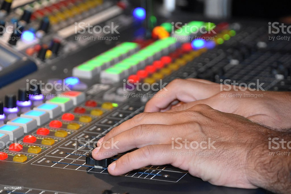 Mic Jack With Mixer stock photo