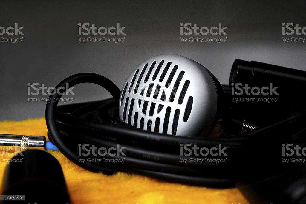 mic on studio stock photo