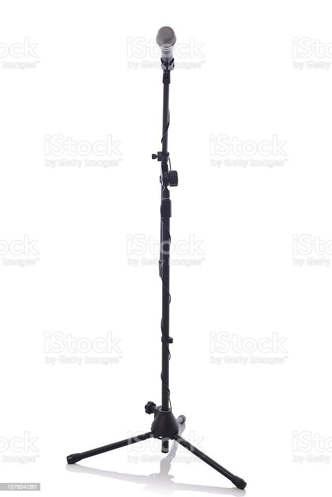 mic stand full height stock photo