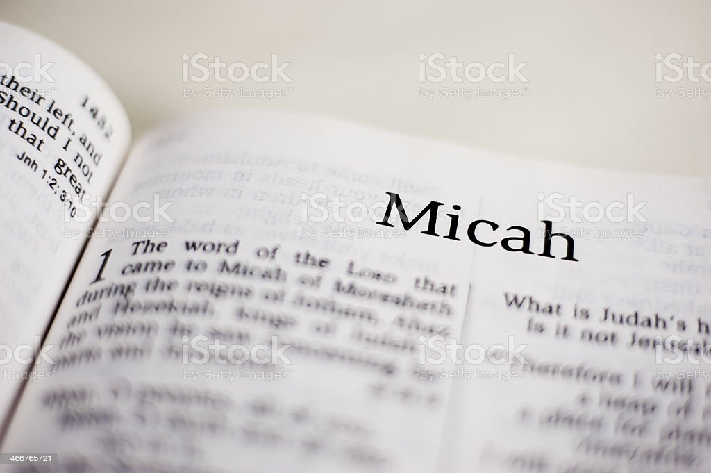 Micah stock photo