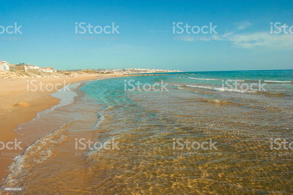 micenci beach stock photo