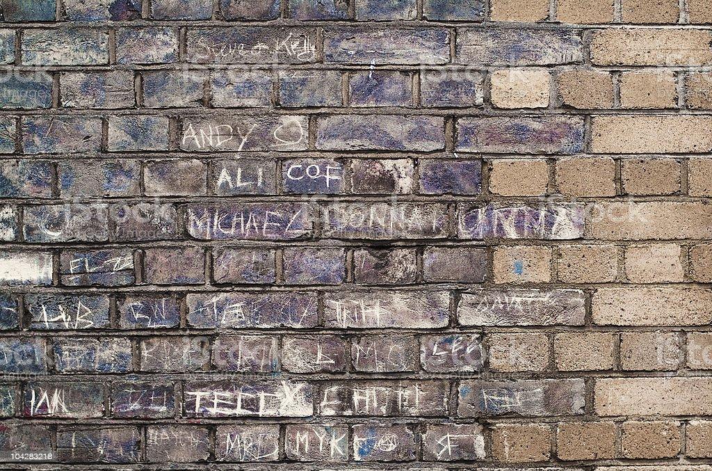 Michael & Donna - urban graffiti with names royalty-free stock photo