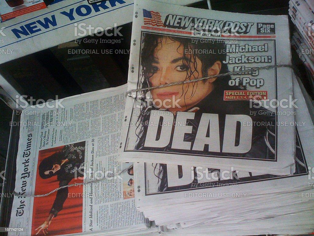 Michael Jackson Dead stock photo