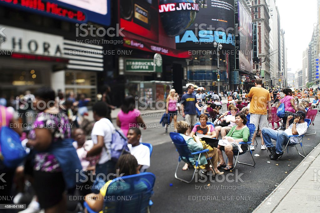 Michael Jackson memorial gathering in Times Square royalty-free stock photo