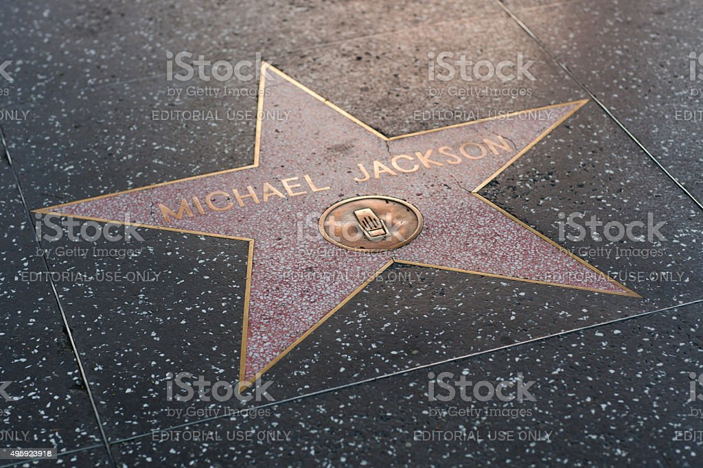 Michael Jackson star on the Hollywood Walk of Fame stock photo