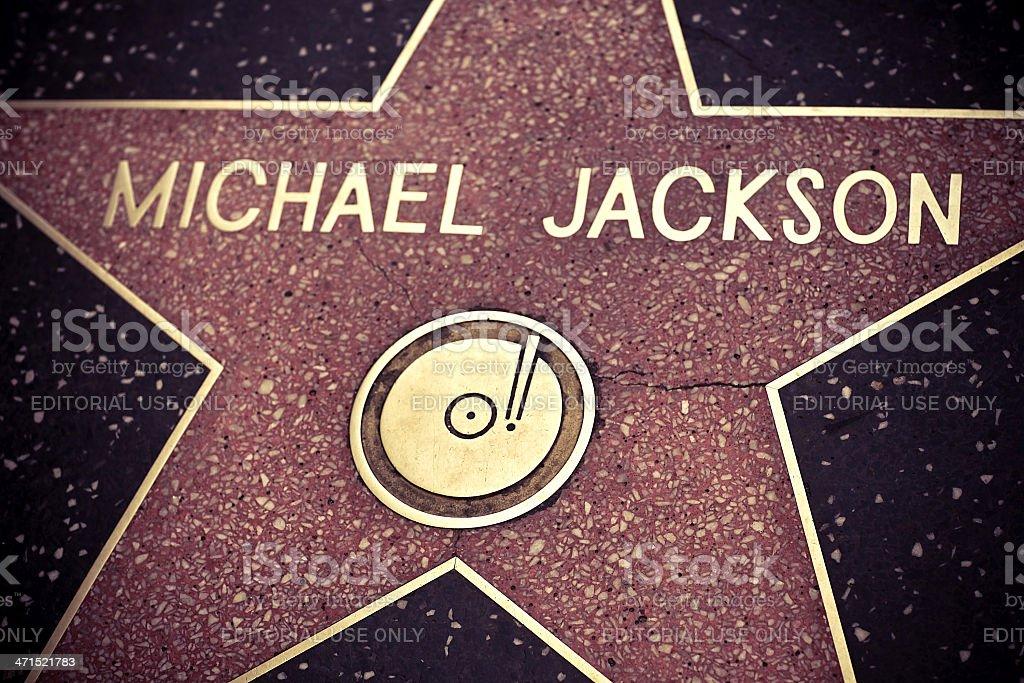 Michael Jackson Star stock photo