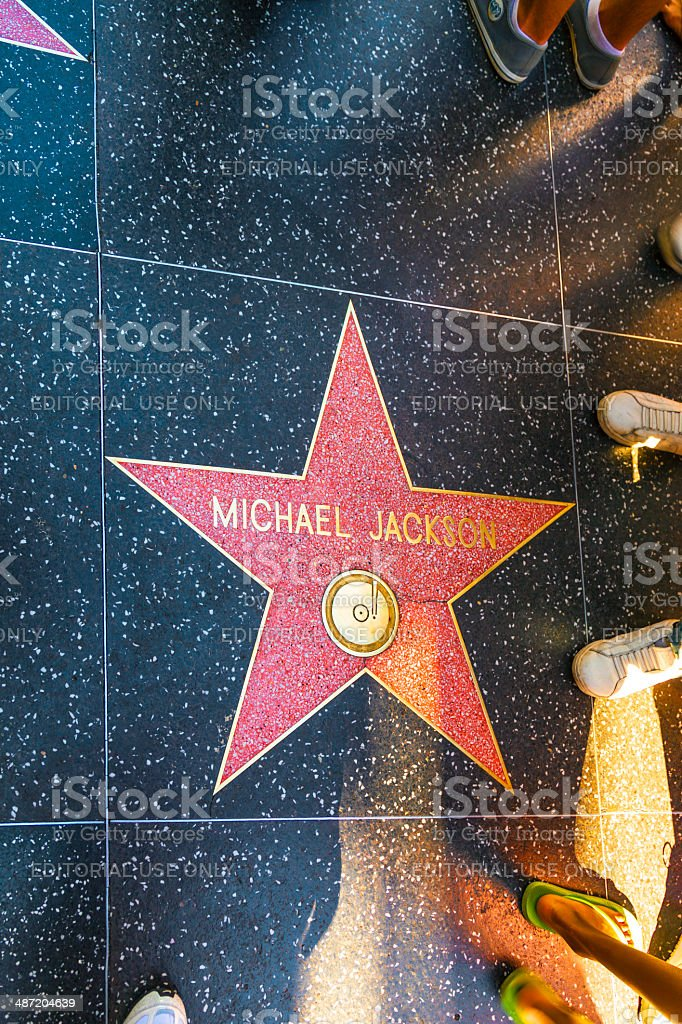 Michael Jackson's star on Hollywood Walk of Fame stock photo