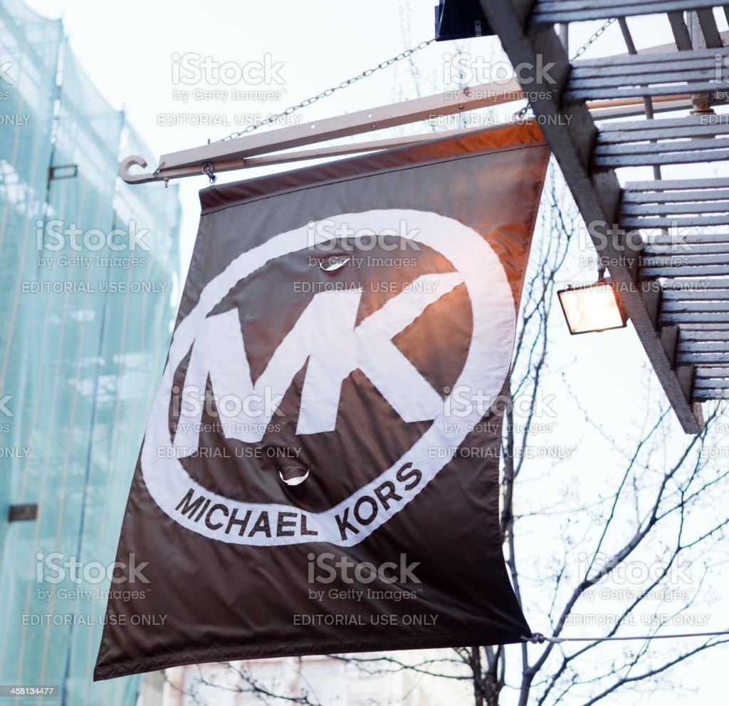 Michael Kors Banner Soho Manhattan stock photo