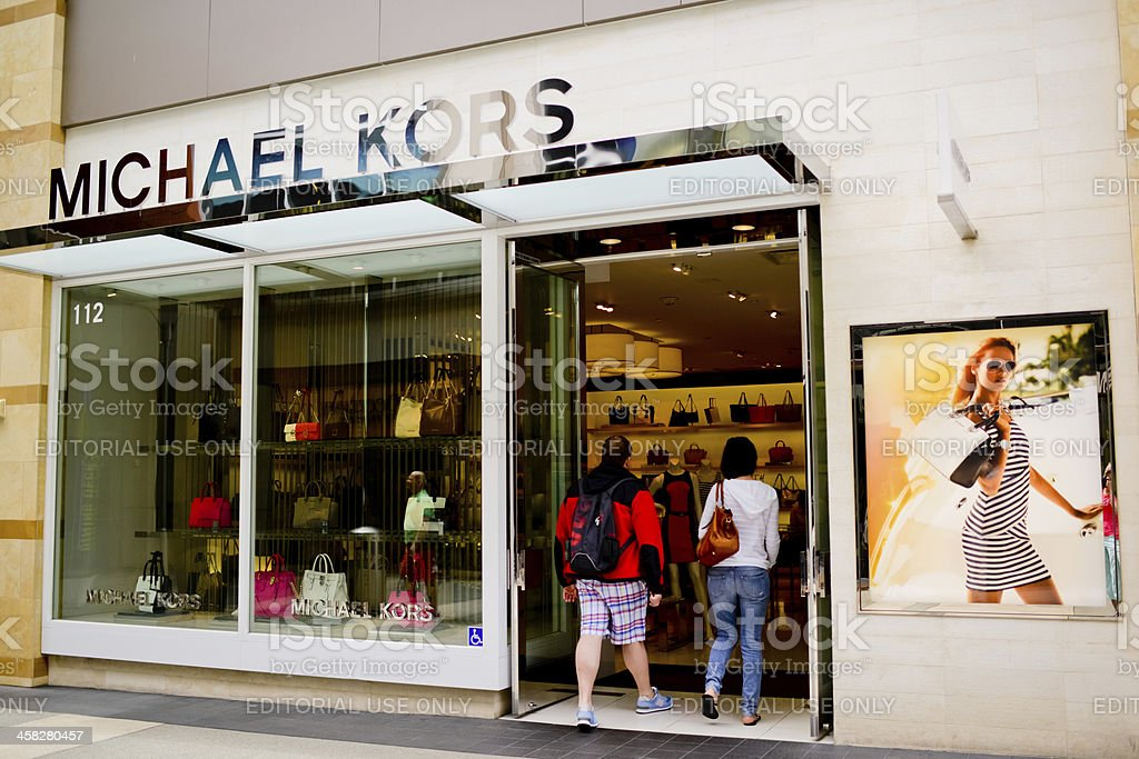 Michael Kors Boutique in Santa Monica Downtown stock photo
