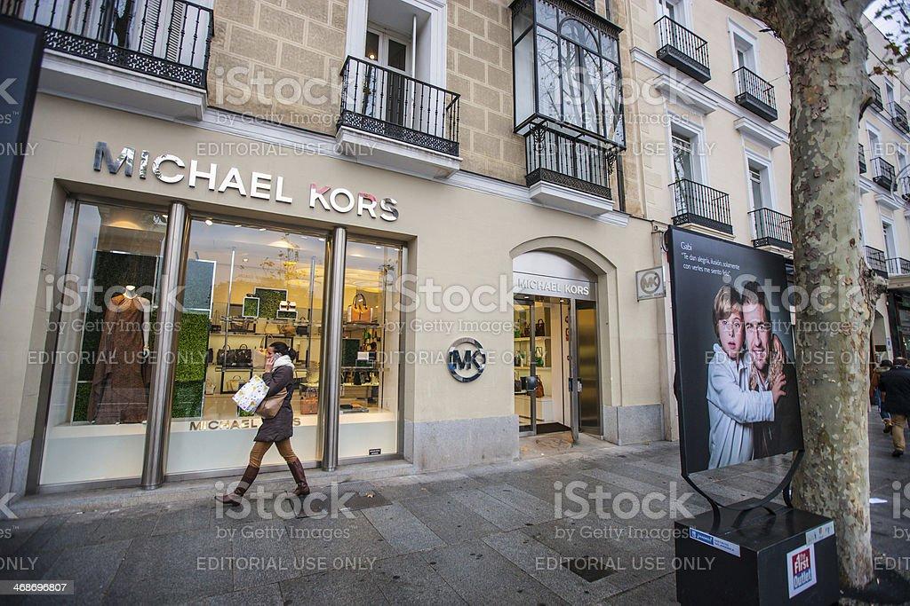 Michael Kors Boutique, Madrid, Spain stock photo