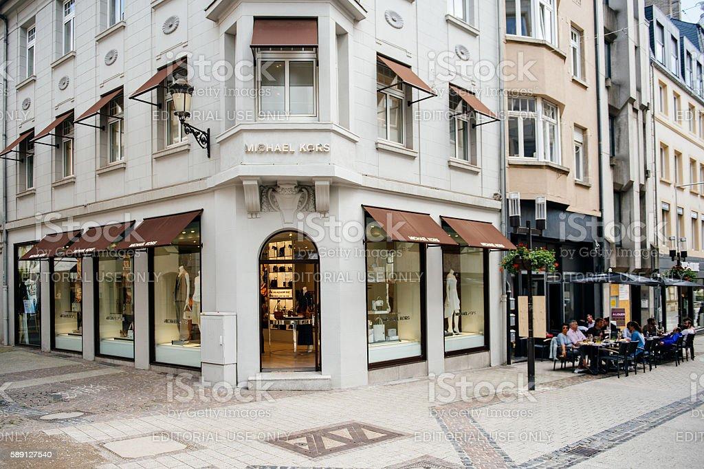 Michael Kors luxury flagship store stock photo
