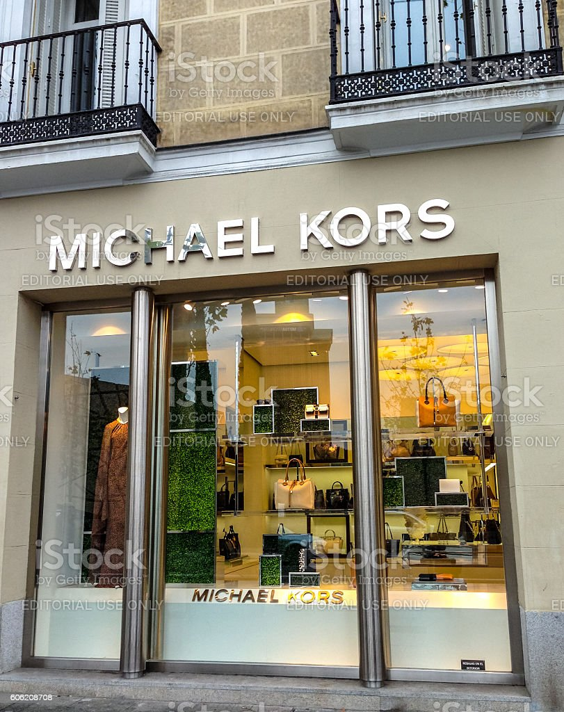 Michael Kors shop in Madrid, Spain stock photo