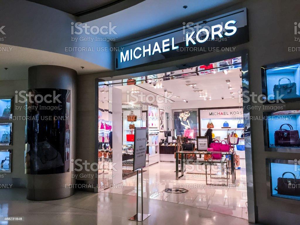 Michael Kors Store at Miami International Airport stock photo