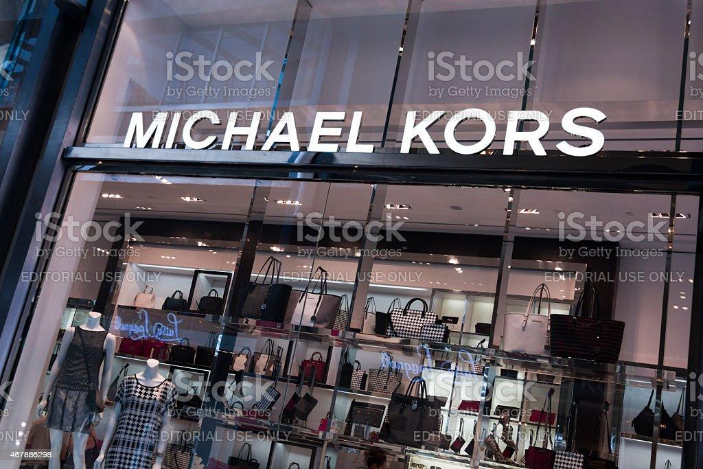 Michael Kors store in Milano, Italy stock photo