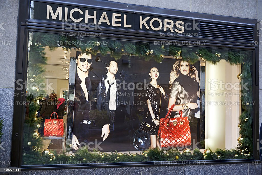 Michael Kors store NYC stock photo