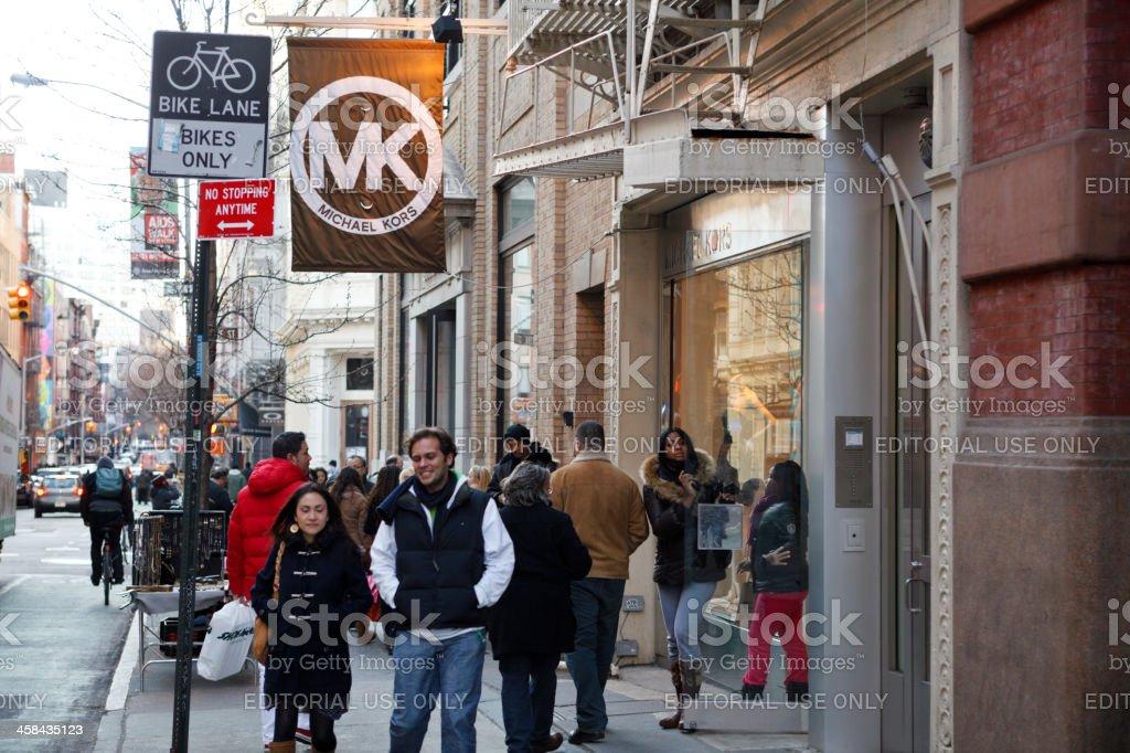 Michael Kors Store Soho New York stock photo