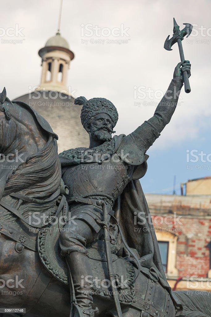 Michael the Brave statue stock photo