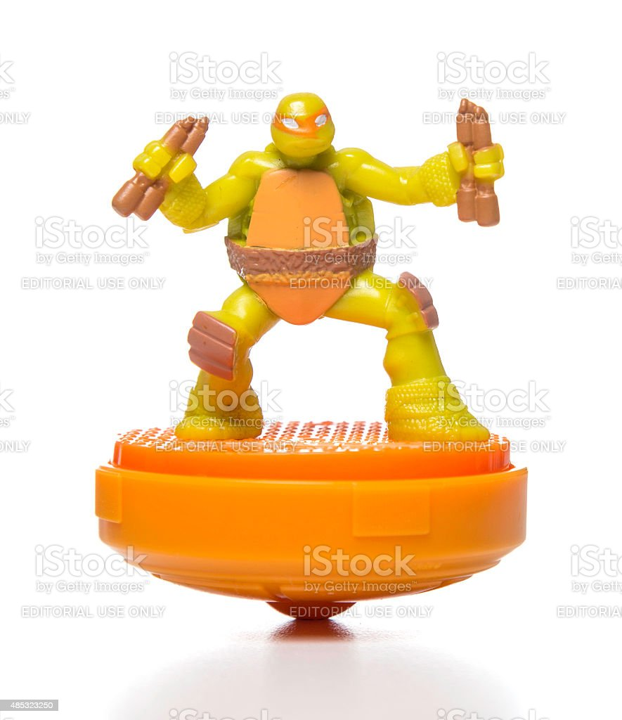 Michaelangelo McDonalds happy meal toy stock photo