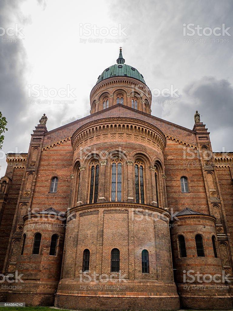 Michaelkirche in Berlin-Mitte - back stock photo