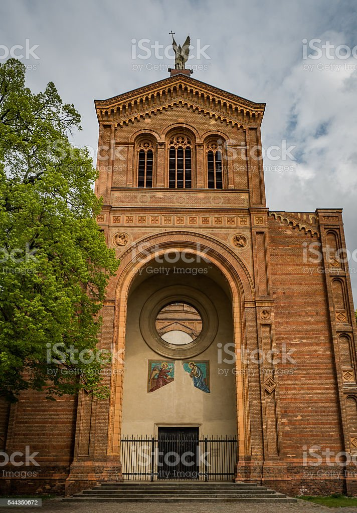 Michaelkirche in Berlin-Mitte - front stock photo