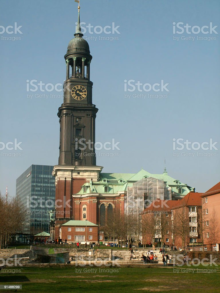 Michel in Hamburg (St. Michaelis Kirche) stock photo