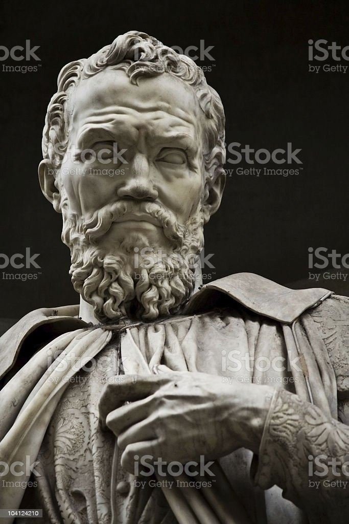 Michelangelo Buonarroti stock photo
