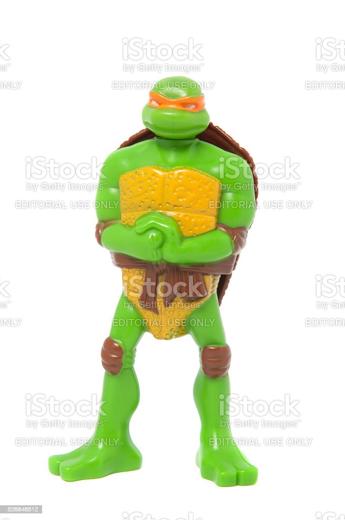 Michelangelo from Teenage Mutant Ninja Turtles Happy Meal Toy stock photo